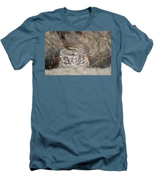Burrowing Owl Men's T-Shirt (Slim Fit) by Oksana Semenchenko