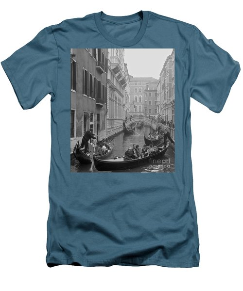 Busy Day In Venice Men's T-Shirt (Athletic Fit)