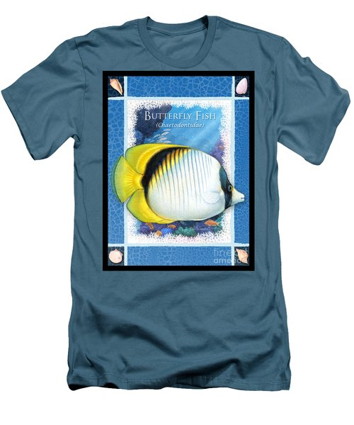 Butterfly Fish Men's T-Shirt (Slim Fit)