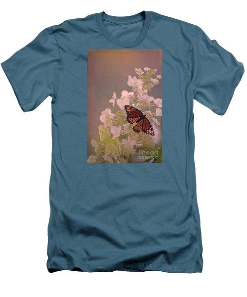 Butterfly Glow Men's T-Shirt (Slim Fit) by Elizabeth Winter