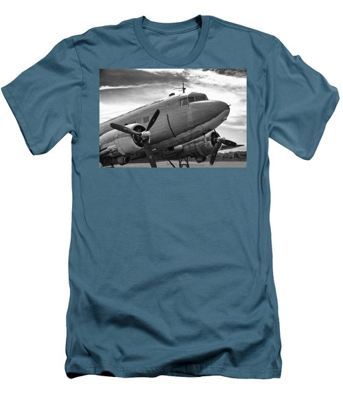 C-47 Skytrain Men's T-Shirt (Slim Fit) by Guy Whiteley