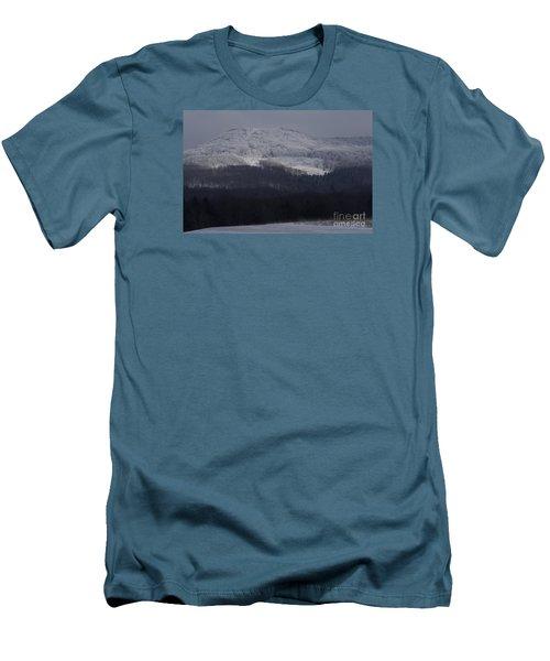 Cabin Mountain Men's T-Shirt (Slim Fit) by Randy Bodkins