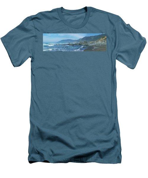 California Beaches 3 Men's T-Shirt (Athletic Fit)