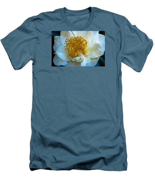 Camellia Men's T-Shirt (Slim Fit) by Julie Andel