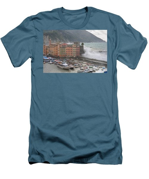 Men's T-Shirt (Slim Fit) featuring the photograph Camogli Under A Storm by Antonio Scarpi