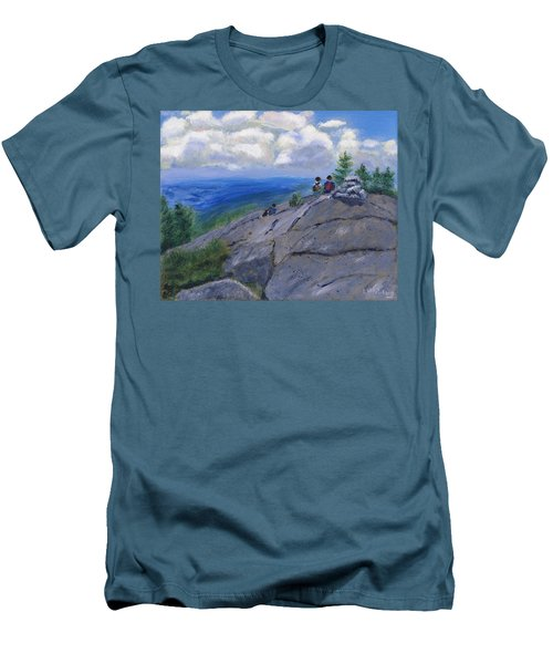 Campers On Mount Percival Men's T-Shirt (Athletic Fit)