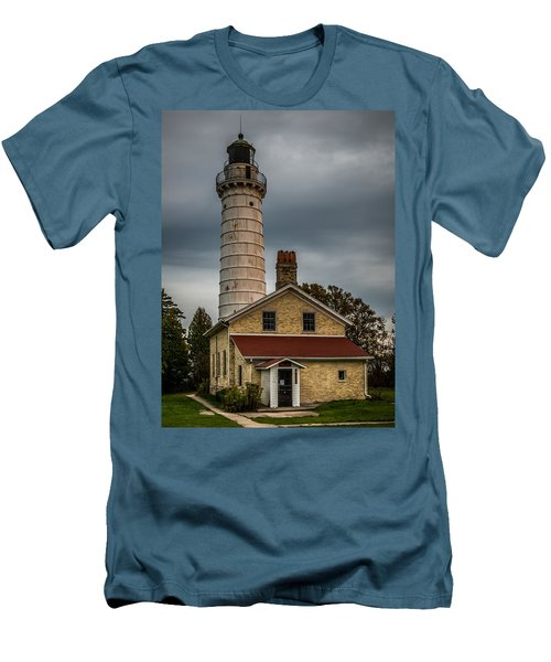 Cana Island Lighthouse By Paul Freidlund Men's T-Shirt (Athletic Fit)