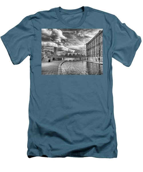 Men's T-Shirt (Slim Fit) featuring the photograph Canal Walk by Howard Salmon