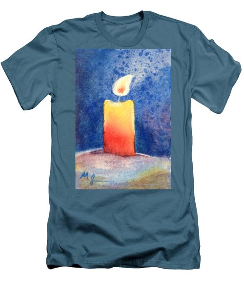 Candle Glow Men's T-Shirt (Athletic Fit)