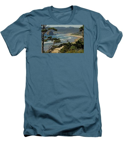 Men's T-Shirt (Slim Fit) featuring the photograph Cannon Beach Seascape by Nick  Boren