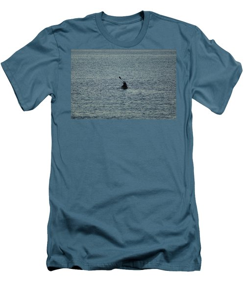 Men's T-Shirt (Slim Fit) featuring the photograph Canoeing In The Florida Riviera by Rafael Salazar