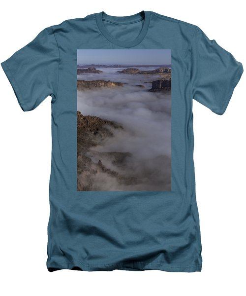 Canyon Rims Float In Fog Men's T-Shirt (Athletic Fit)