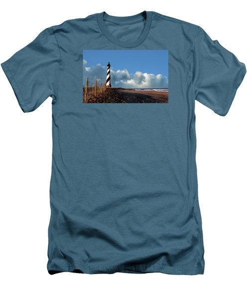 Cape Hatteras Lighthouse Nc Men's T-Shirt (Slim Fit) by Skip Willits