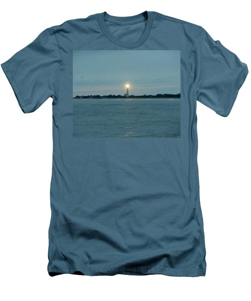 Men's T-Shirt (Slim Fit) featuring the photograph Cape May Beacon by Ed Sweeney