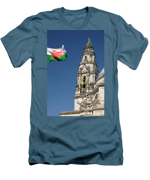 Men's T-Shirt (Slim Fit) featuring the photograph Cardiff City Hall by Jeremy Voisey