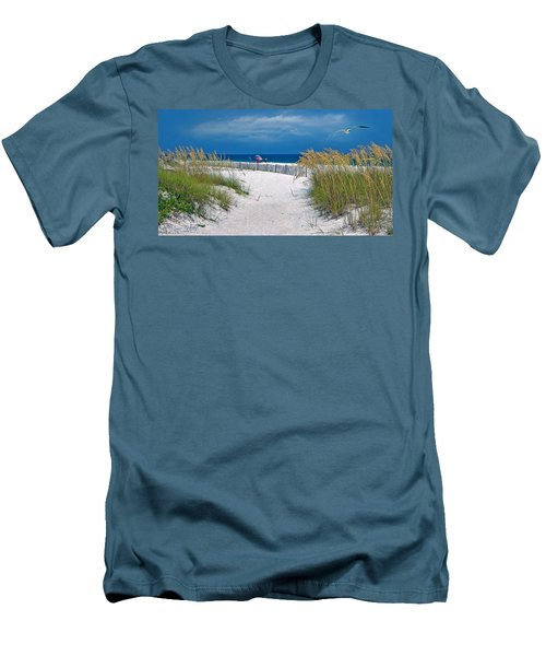 Carefree Days By The Sea Men's T-Shirt (Athletic Fit)