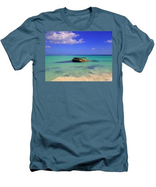 Men's T-Shirt (Slim Fit) featuring the photograph Caribbean Colors  by Eti Reid