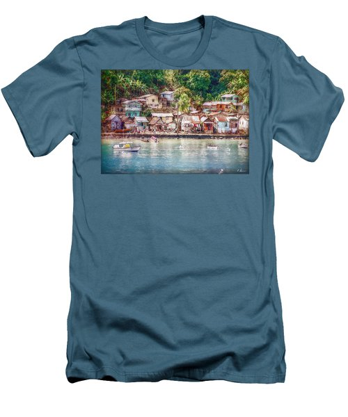 Men's T-Shirt (Slim Fit) featuring the photograph Caribbean Village by Hanny Heim