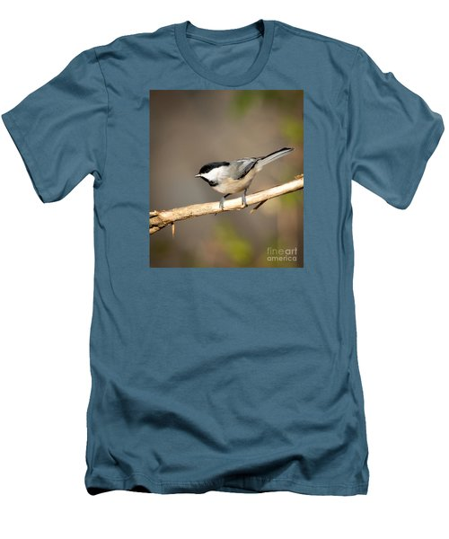 Men's T-Shirt (Slim Fit) featuring the photograph Carolina Chickadee  by Kerri Farley