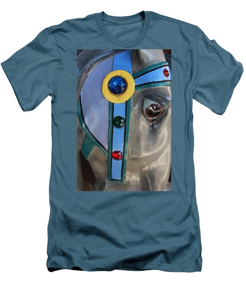 Men's T-Shirt (Slim Fit) featuring the photograph Carousel Horse by Diane Alexander