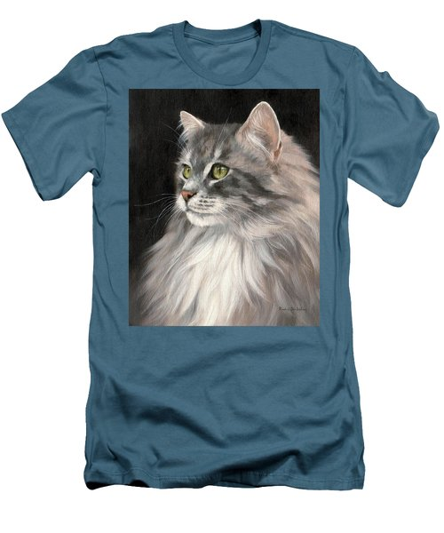Cat Portrait Painting Men's T-Shirt (Athletic Fit)