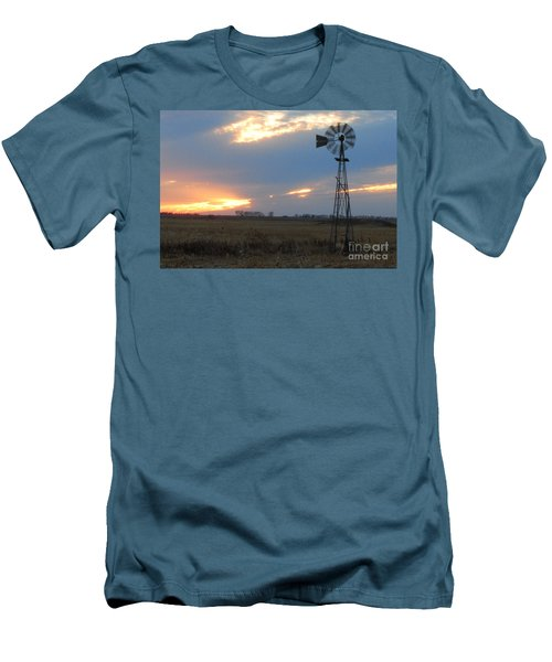 Catching The Wind In South Dakota Men's T-Shirt (Athletic Fit)