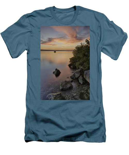 Cayuga Sunset I Men's T-Shirt (Athletic Fit)
