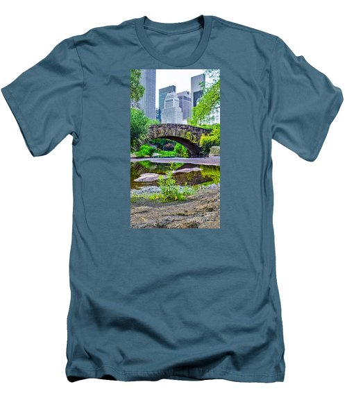 Central Park Nature Oasis Men's T-Shirt (Athletic Fit)