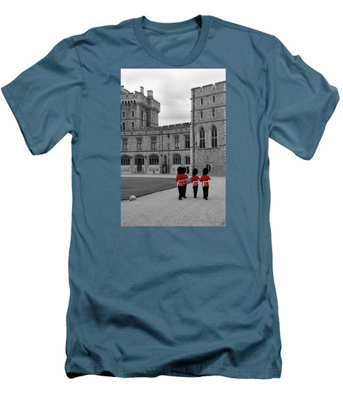 Men's T-Shirt (Slim Fit) featuring the photograph Changing Of The Guard At Windsor Castle by Lisa Knechtel