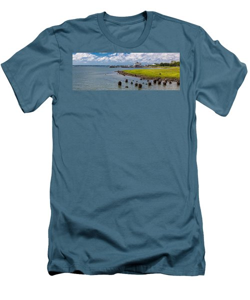 Men's T-Shirt (Slim Fit) featuring the photograph Charleston Harbor by Sennie Pierson