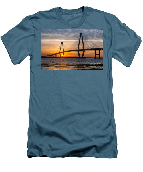 Charleston Sun Setting  Men's T-Shirt (Athletic Fit)