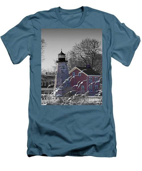 The Charlotte Genesee Lighthouse Men's T-Shirt (Slim Fit) by Richard Engelbrecht