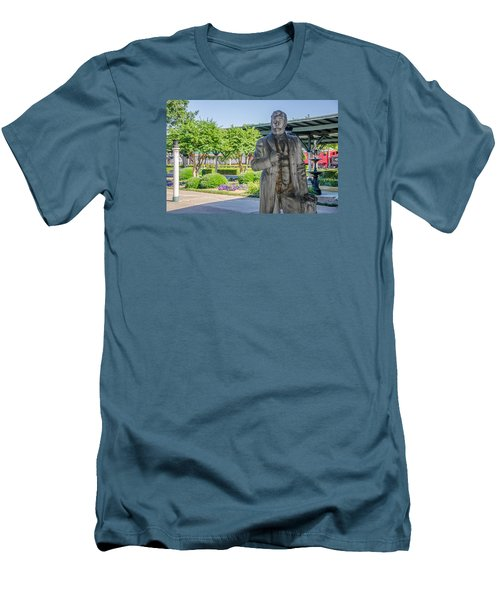 Men's T-Shirt (Slim Fit) featuring the photograph Chattanooga Choo Choo Court Yard by Susan  McMenamin