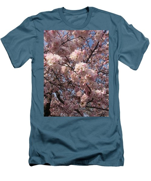 Cherry Blossoms For Lana Men's T-Shirt (Slim Fit) by Emmy Marie Vickers