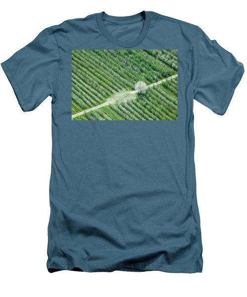 Men's T-Shirt (Slim Fit) featuring the photograph Cherry Tree by Davorin Mance
