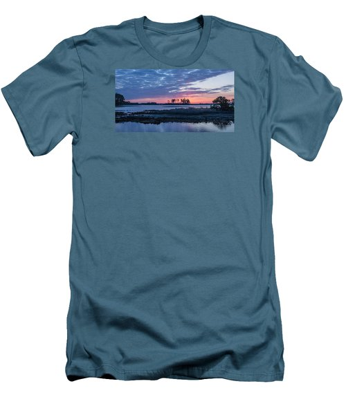 Chincoteague Wildlife Refuge Dawn Men's T-Shirt (Slim Fit) by Photographic Arts And Design Studio
