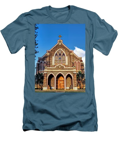 Men's T-Shirt (Slim Fit) featuring the photograph Church 1 by Dawn Eshelman
