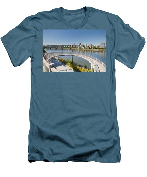 Men's T-Shirt (Slim Fit) featuring the photograph Circular Walkway On Portland Eastbank Esplanade by JPLDesigns
