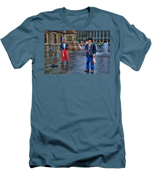 Men's T-Shirt (Slim Fit) featuring the photograph City Jugglers by Ron Shoshani