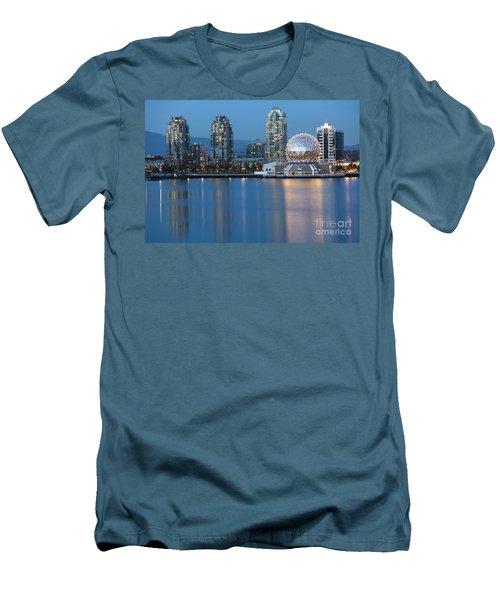 City Skyline -vancouver B.c. Men's T-Shirt (Athletic Fit)