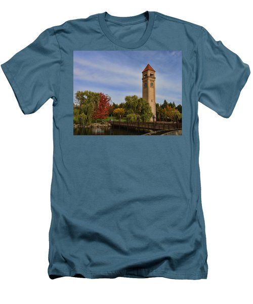 Clocktower Fall Colors Men's T-Shirt (Athletic Fit)