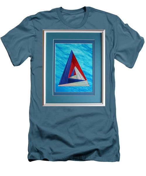 Men's T-Shirt (Slim Fit) featuring the mixed media Close Encounter by Ron Davidson
