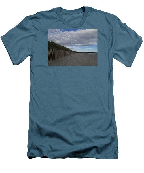 Clouded Beach Men's T-Shirt (Slim Fit) by Robert Nickologianis