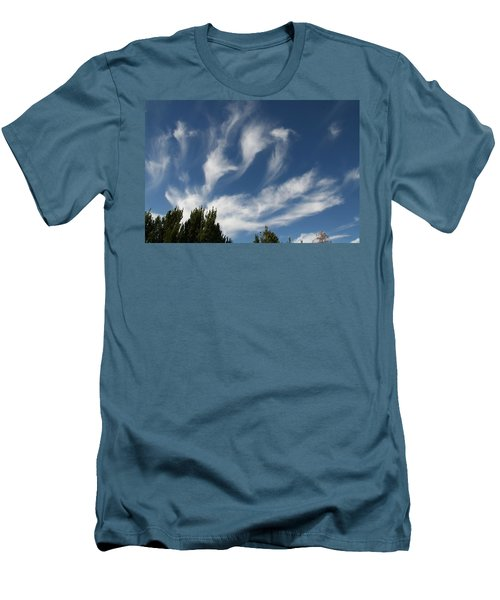 Men's T-Shirt (Slim Fit) featuring the photograph Clouds by David S Reynolds