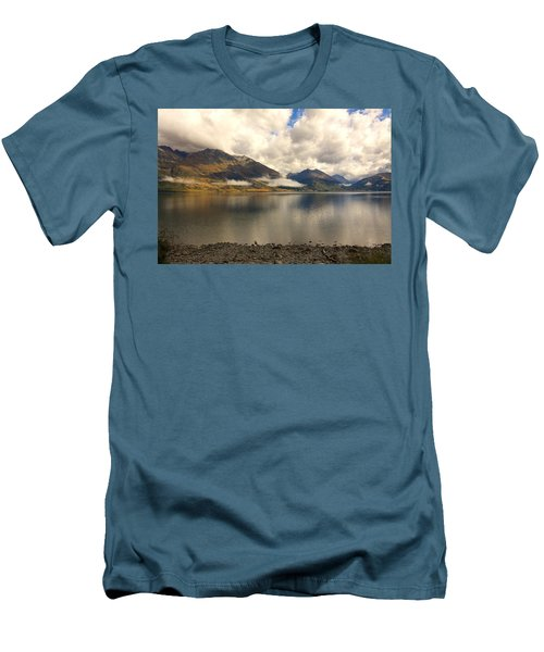 Men's T-Shirt (Slim Fit) featuring the photograph Clouds Over Wakatipu #1 by Stuart Litoff