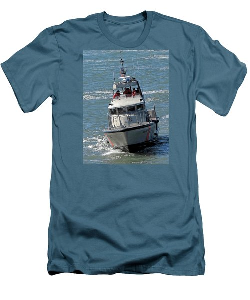 Men's T-Shirt (Slim Fit) featuring the photograph Coast Guard At Depot Bay by Chris Anderson