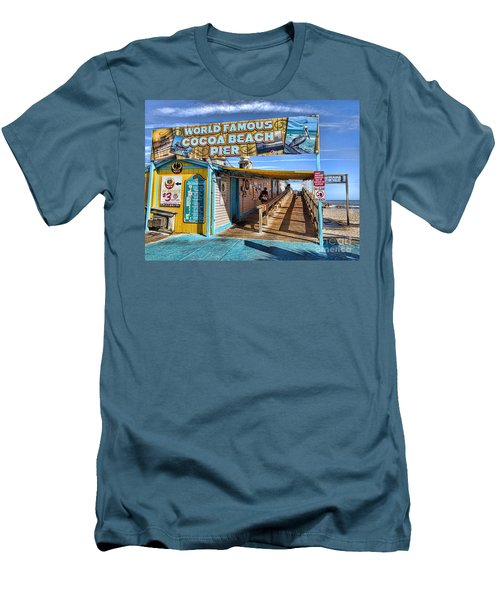 Cocoa Beach Pier In Florida Men's T-Shirt (Athletic Fit)