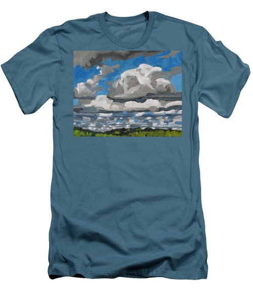 Cold Air Mass Cumulus Men's T-Shirt (Slim Fit) by Phil Chadwick