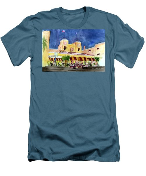 Colony Hotel In Delray Beach Men's T-Shirt (Slim Fit) by Donna Walsh