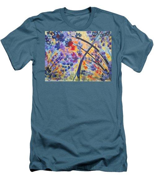Color Flurry Men's T-Shirt (Slim Fit) by Holly Carmichael